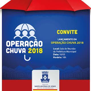 Prefeitura apresenta Operação Chuva 2018 nesta sexta (16)