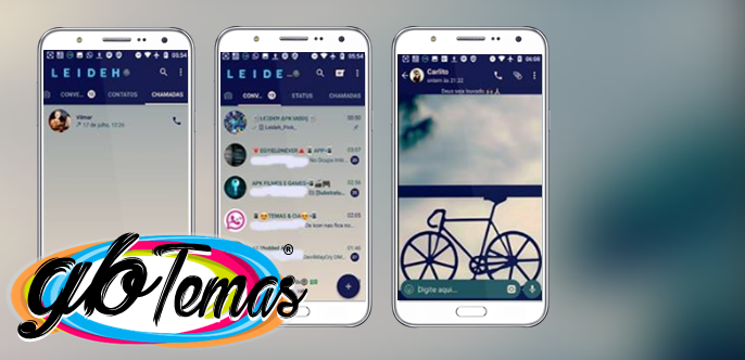 Tema GBWhatsapp - Blue Bike