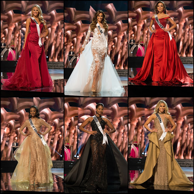 SASHES AND TIARAS.....Miss USA 2016 Preliminary Competition TREND ALERT: The Overskirt Gown!