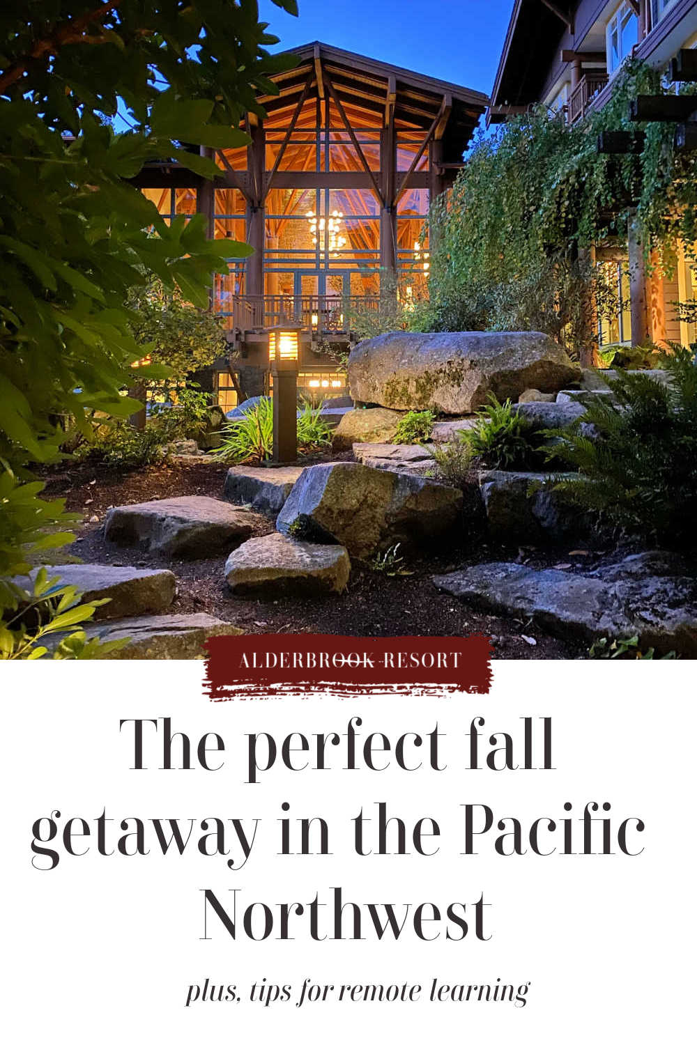 perfect fall getaway in the pacific northwest