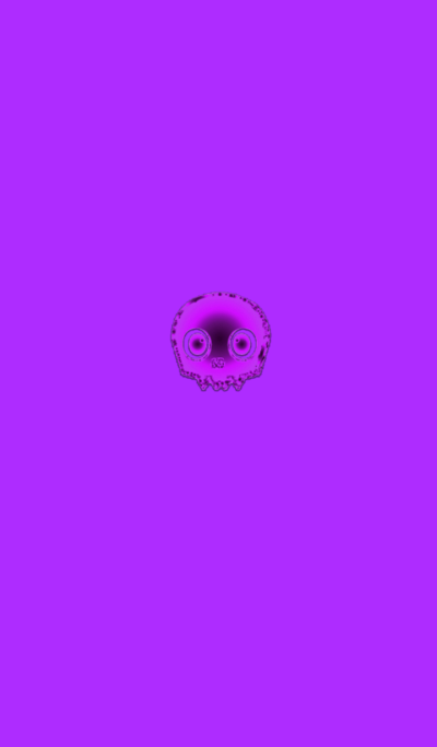 Fluorescent purple skull