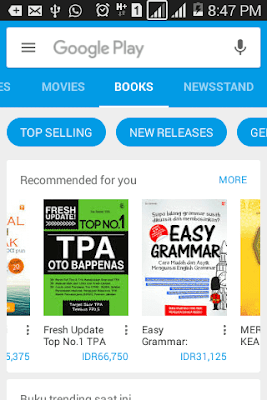 membeli buku di google play
