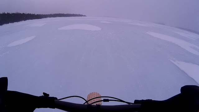 Vee Snow Avalanche 4.8 PSC Studded Fat Bike Tire Riding Frozen Lake