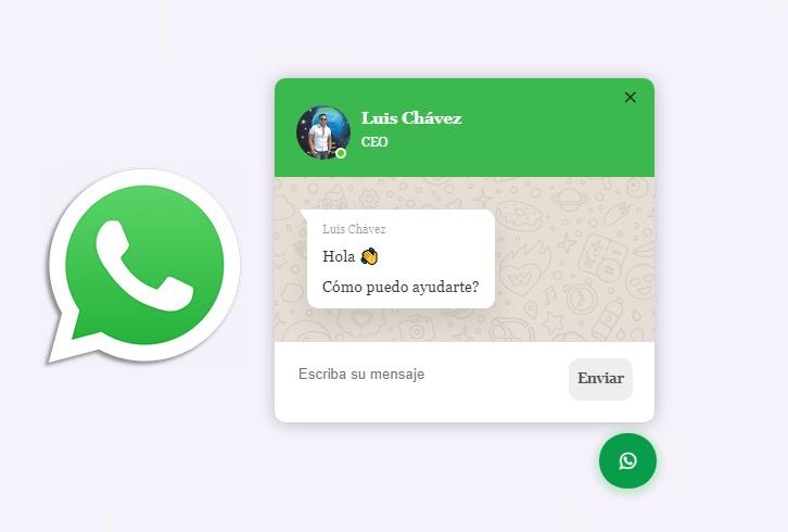 Chat de Whatsapp: agregue el widget de Whatsapp a su sitio web