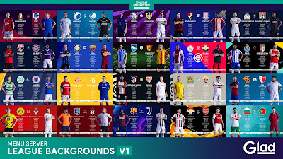 PES 2021 League & Cup Backgrounds by Glad20
