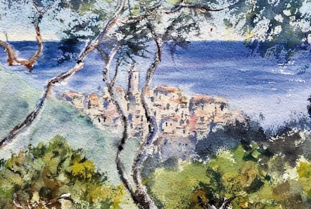 """""""Ricordando Monet"""", in mostra a Bordighera gli acquerelli di Paola Reviglio"""