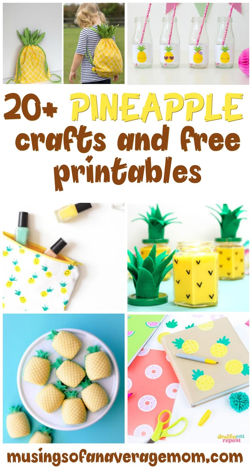 photograph relating to Free Printable Pineapple titled Musings of an Normal Mother: Pineapple Crafts Printables