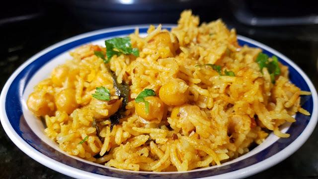 Instant Pot Chick Peas Biryani | Chana Pulao
