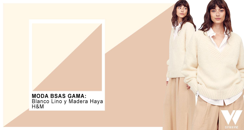 Blanco lino y Madera Haya tonos de moda invierno 2021