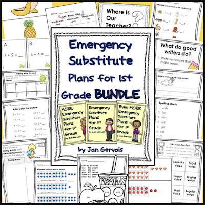 https://www.teacherspayteachers.com/Product/Emergency-Substitute-Plans-for-1st-Grade-BUNDLE-3-sets-1323467