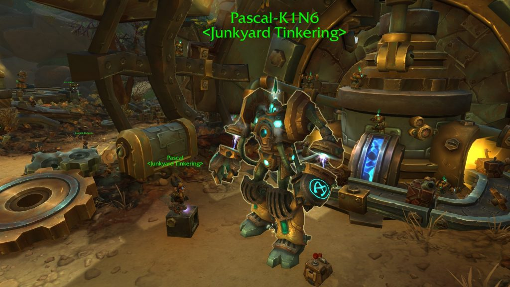 At Pascal you can later build teleporters to quickly return to Mechagon.