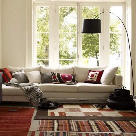 Decoraci n de interiores alfombras de centro para sala for Alfombra persa roja