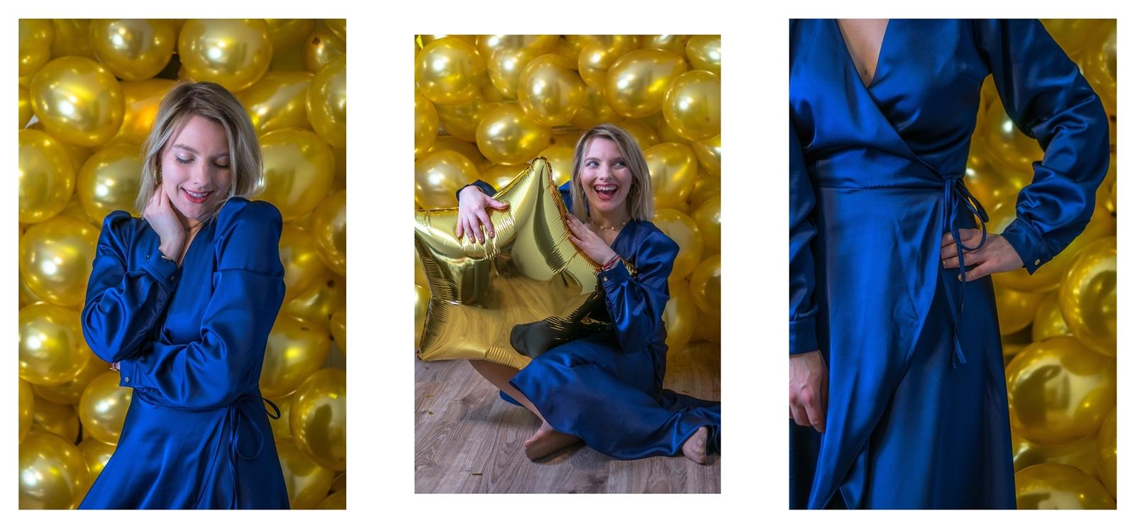 2a sukienki sylwestrowe z długim rękawem z dekoltem z frędzlami i cekinami błyszczące w co się ubrać na sylwestra jak się ubrać na bal sylwestrowy szkolny studniówkowy studniówka stylizacja
