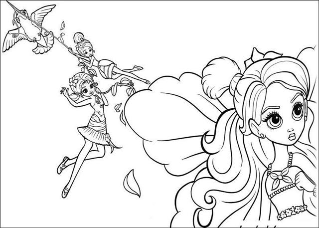 Barbie Thumbelina Coloring Pages Learn To Coloring