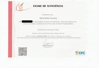 certificado aprovação cfc contador prova crc contabilidade exame proficiência suficiência