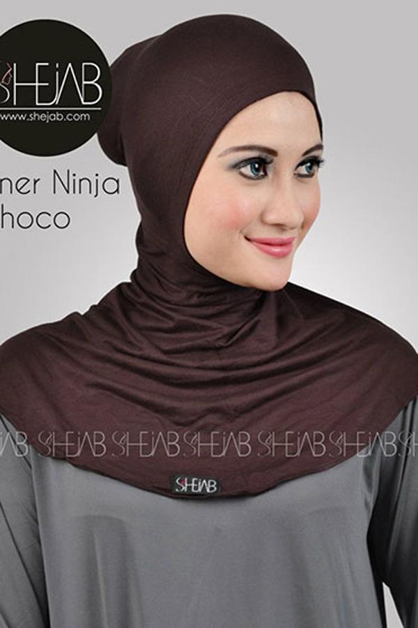 Ciput Ninja Antem Coklat Tua Shejab