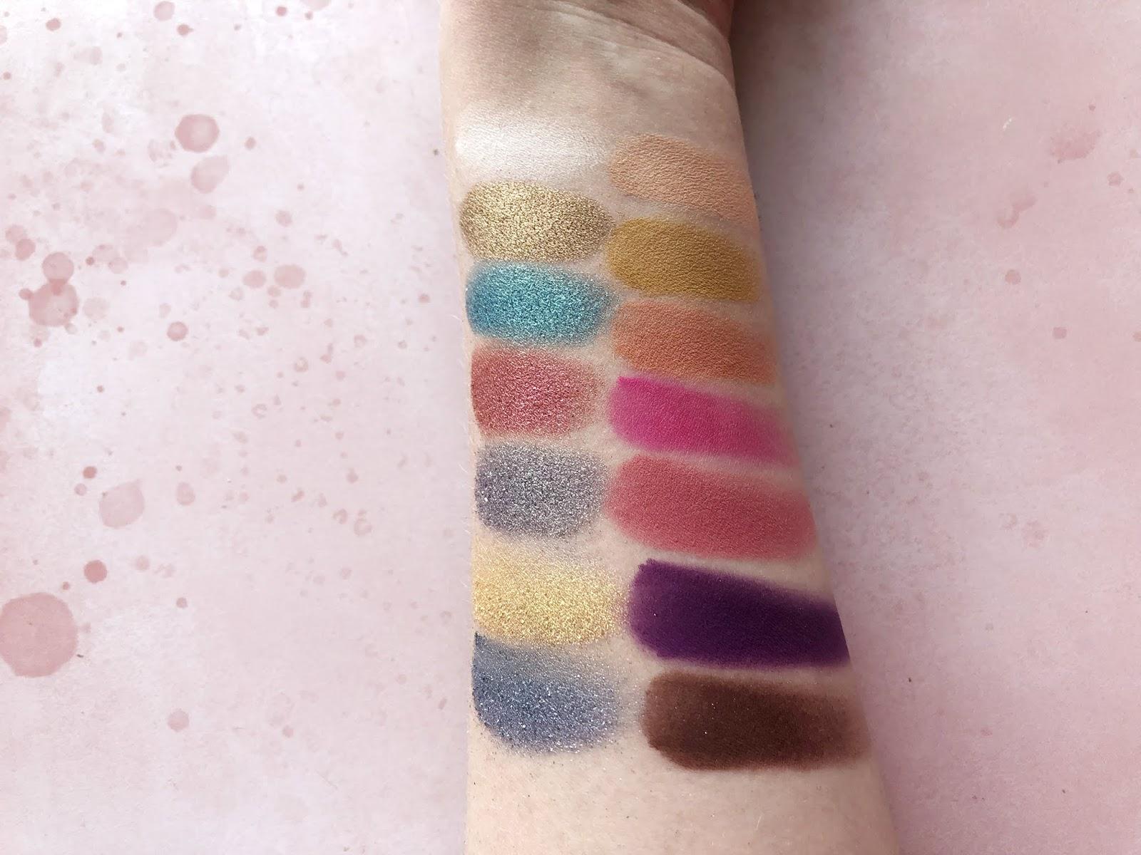 Anastasia Beverly Hills Riviera Eyeshadow Palette Swatches