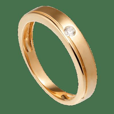 Nhẫn cưới nam Kim cương Vàng 18K PNJ Chung Đôi DD00Y000604