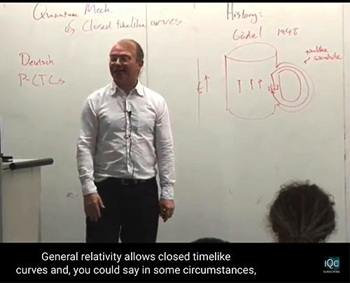 Seth Lloyd, MIT, explains potential connection between closed timelike curves and quantum gravity (Source: https://www.youtube.com/watch?v=yCQ_3qE6SmQ&app=desktop)