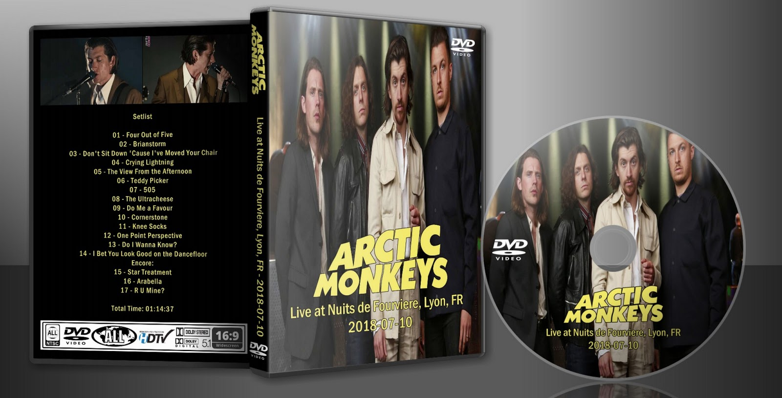 Deer5001RockCocert : Arctic Monkeys - 2018-07-10 - Live At Nuits De  Fourviere, Lyon, FR - HD-Webcast > DVD