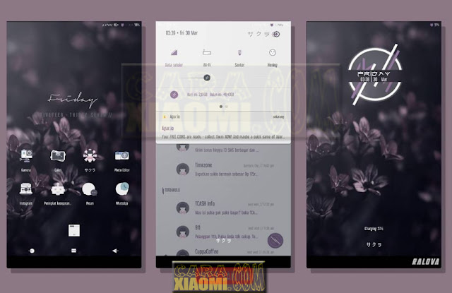 Tema Xiaomi West Sakura Mtz Terbaru For MIUI V9/V8 Theme [UPDATE]