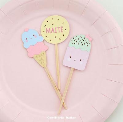 topper sorvetinho festa sorveteria decoracao