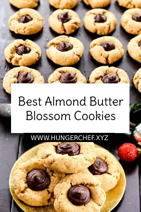 Best Almond Butter Blossom Cookies I Ever Made! These amazingly chewy, dense yet doughy cookies are easy, healthy and they're paleo, vegan, gluten-free, dairy-free and refined sugar free! #bestcookies #cookiesrecipe #cookies #almond #almondjoy #almondbutter #buttercookies #blossom #bestdessert #vegancookies #healthycookies #glutenfree #glutenfreecookies #dairyfree #sugarfree #paleo #dessert #easydessert #healthydessert #healthysnacks