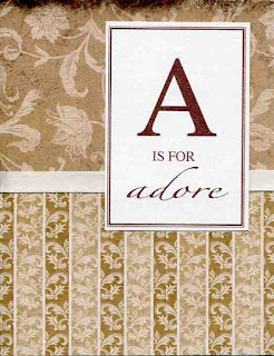A is for Adore. Anniversary card for a husband