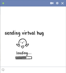 Sending Virtual Hug Emoticon