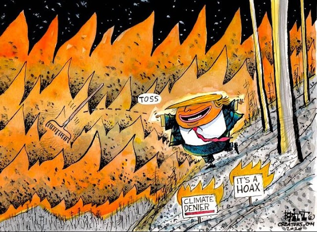 As California burns, Trump disputes climate change; Biden calls Trump 'climate arsonist'