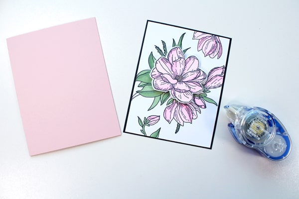 Layer of paper for a handmade card