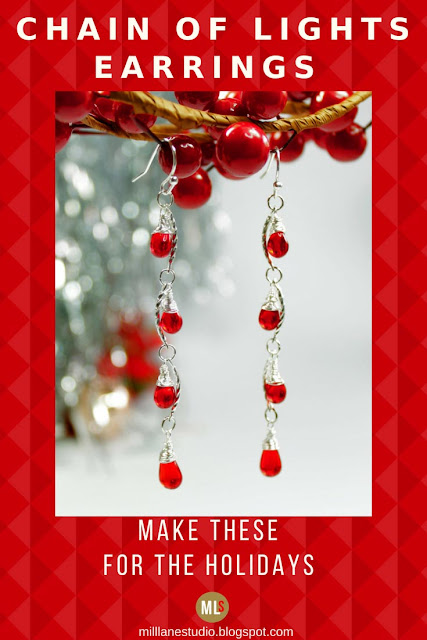 Chain of Lights earrings inspiration sheet