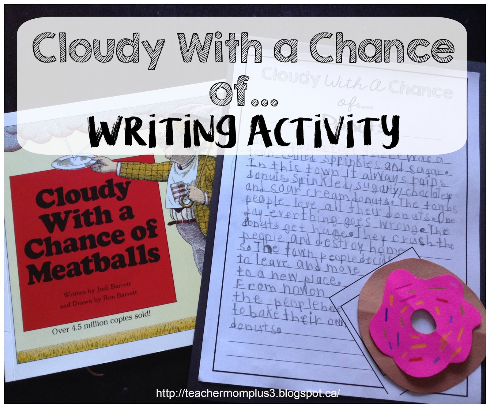 Teachermomplus3 Cloudy With A Chance Of Writing Activity