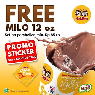 #Promosi247 #Hokben - Free Milo 12 Oz Setiap Pembelian Min 85 K (s.d 30 Agustus 2020)