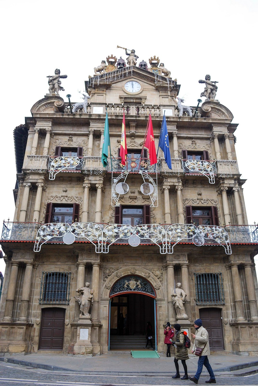 ayuntamiento city hall pamplona navarra spain