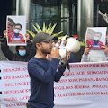 Mahasiswa Tagih Janji KPK Hukum Mati Koruptor Bansos Covid-19