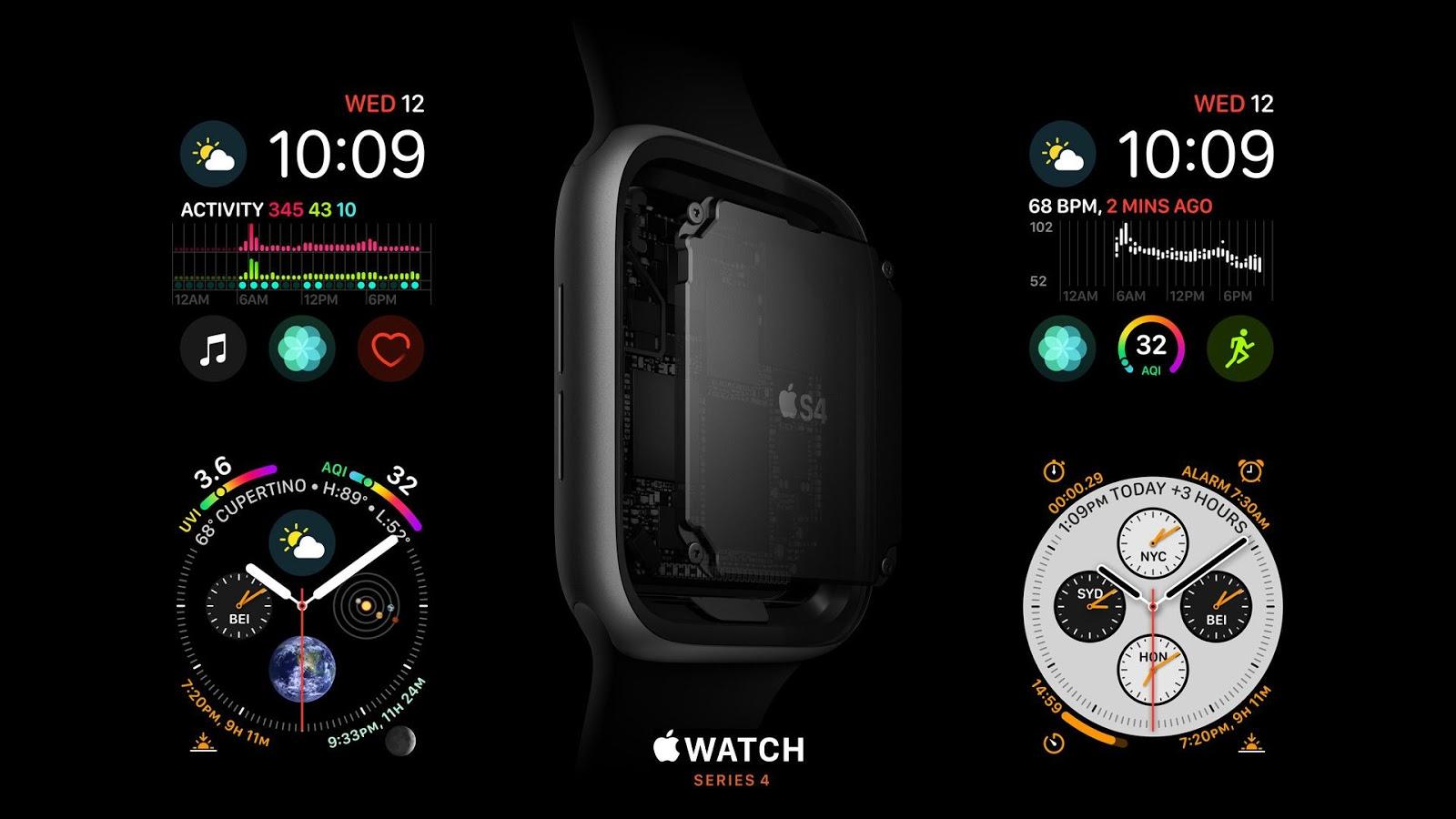 Wallpapers Apple Watch Series 4, S4, Apple image