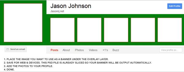 Google Plus Banner Overlay