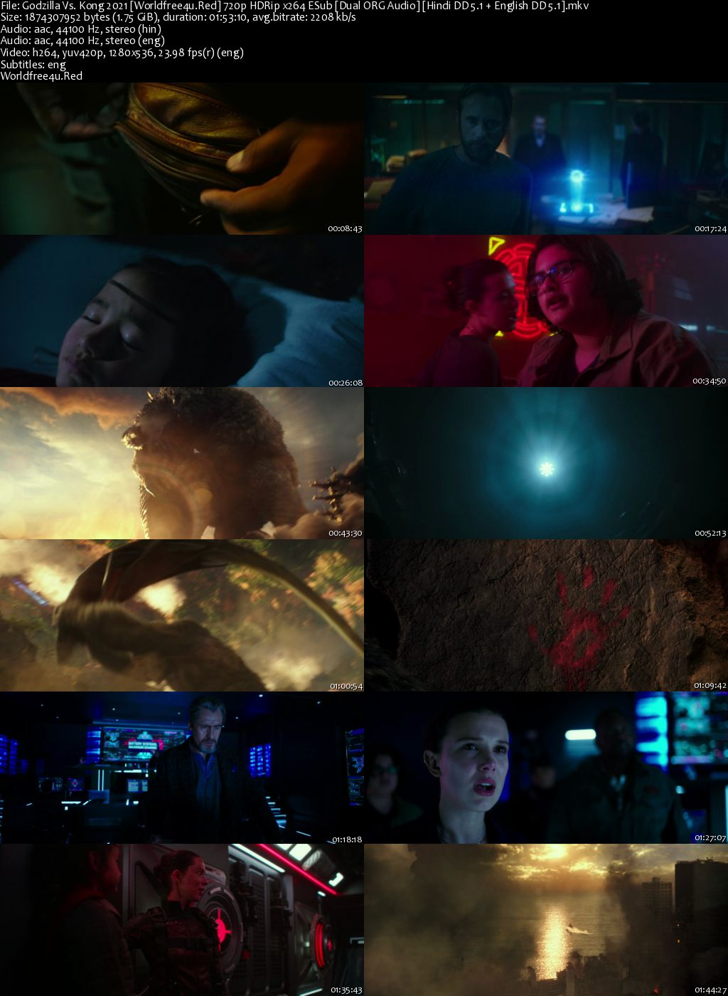 Godzilla Vs. Kong 2021 HDRip 720p Dual Audio