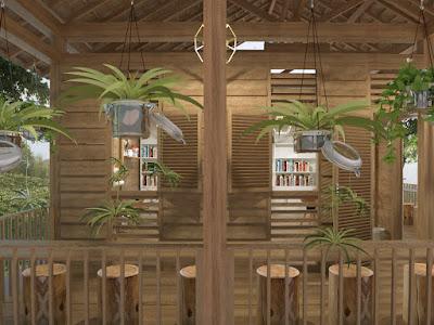 Perpustakaan Desa Dengan Material Lokal