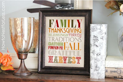 Thanksgiving Subway Art, Free Printable