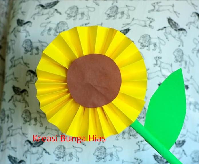 Cara Membuat Bunga Matahari Dari Kertas Karton Kreasi Bunga Hias
