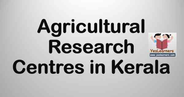 Agricultural Research Centres in Kerala - Complete List