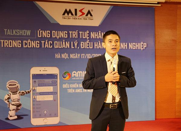 Ông Nguyễn Huy Bình - Giám đốc TTKD Cloud DN chia sẻ về việc lựa chọn công cụ hữu ích như AMIS.VN giúp quản trị doanh nghiệp hiệu quả.