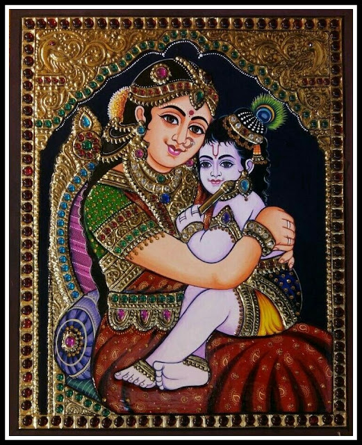 krishna with yashoda images