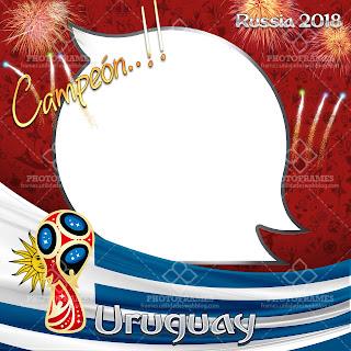 Marco para fotos de Uruguay con motivo al mundial de fútbol de Rusia 2018