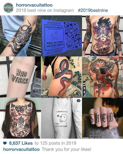 I tatuaggi fatti a Bologna nel 2019 con più like