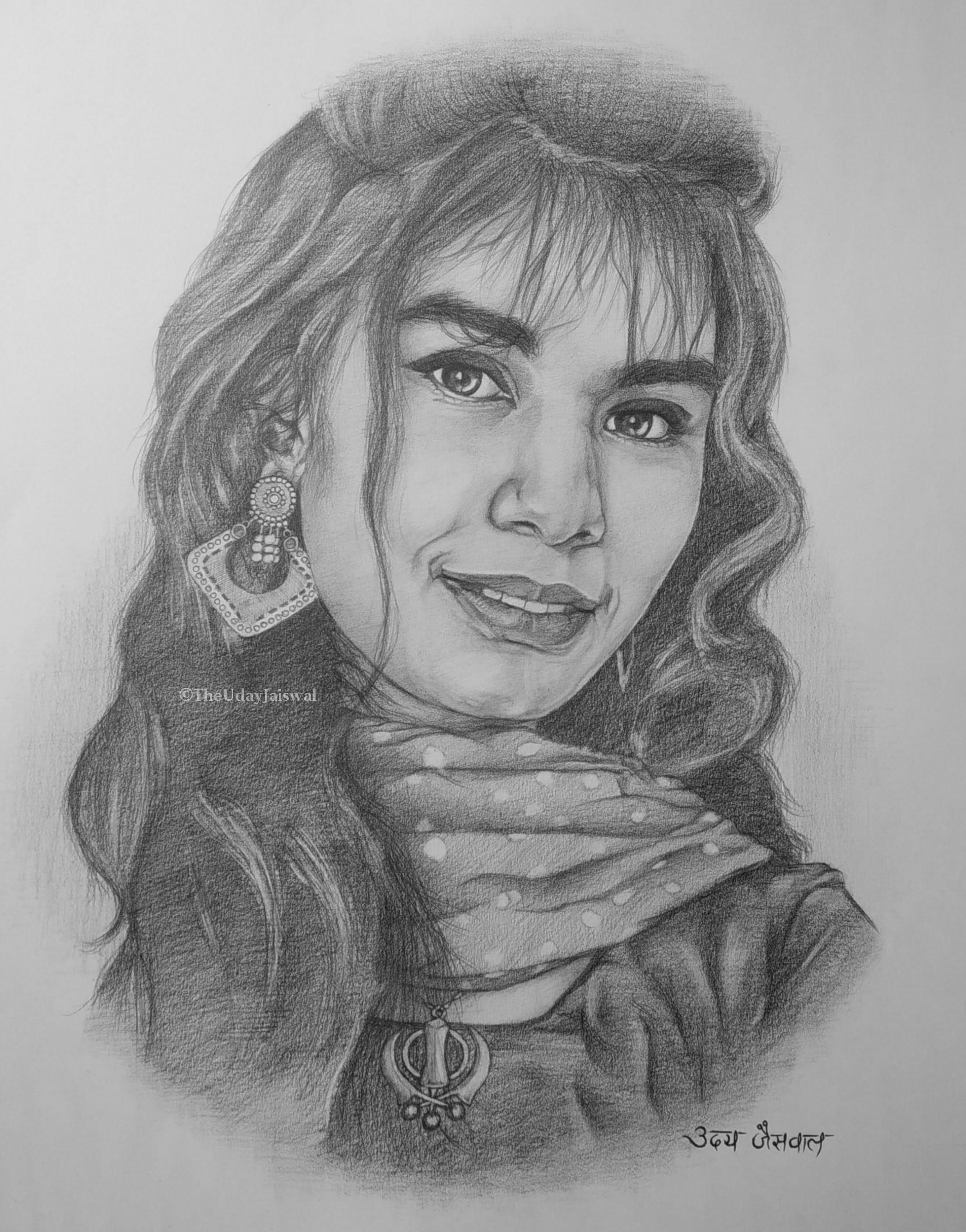 Ms. Vaishnavi Yaduvanshi Shading Portrait