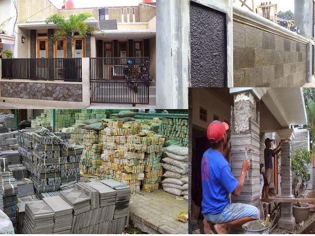 Desain Rumah Minimalis Sederhana Terbaru Batu Alam Sebagai