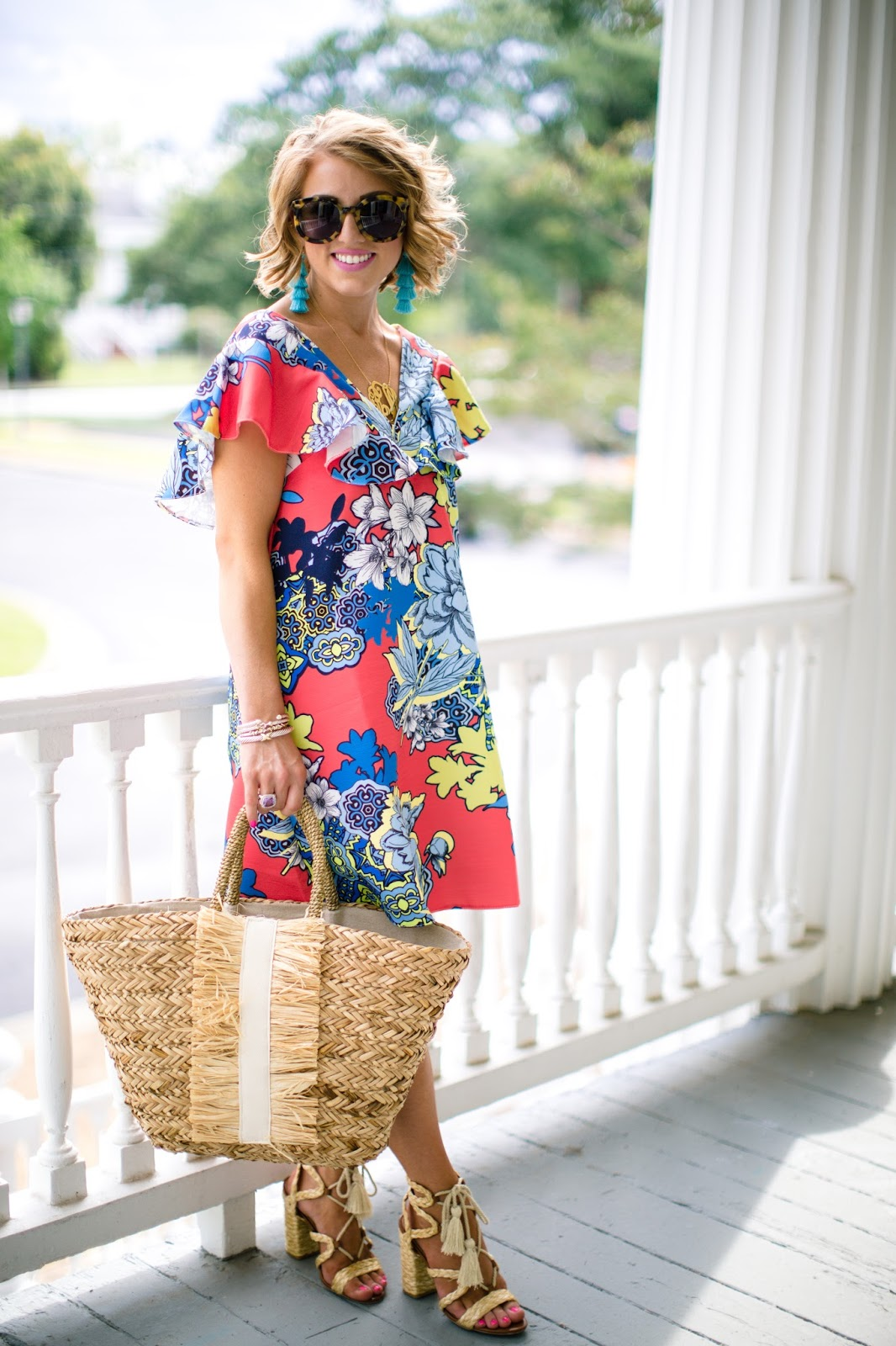 Ruffle Shift Dress - Click through to see more on Something Delightful Blog!